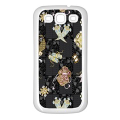 Traditional Music Drum Batik Samsung Galaxy S3 Back Case (White)