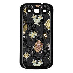 Traditional Music Drum Batik Samsung Galaxy S3 Back Case (Black)