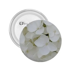 Hydrangea Flowers Blossom White Floral Photography Elegant Bridal Chic  2.25  Buttons