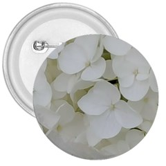 Hydrangea Flowers Blossom White Floral Photography Elegant Bridal Chic  3  Buttons