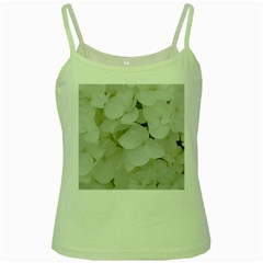 Hydrangea Flowers Blossom White Floral Photography Elegant Bridal Chic  Green Spaghetti Tank