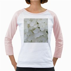Hydrangea Flowers Blossom White Floral Photography Elegant Bridal Chic  Girly Raglans