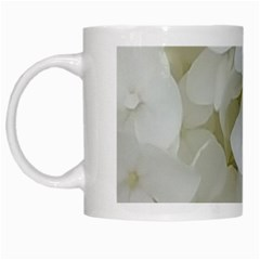 Hydrangea Flowers Blossom White Floral Photography Elegant Bridal Chic  White Mugs