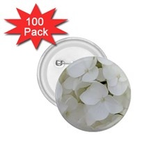 Hydrangea Flowers Blossom White Floral Photography Elegant Bridal Chic  1.75  Buttons (100 pack)