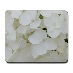 Hydrangea Flowers Blossom White Floral Photography Elegant Bridal Chic  Large Mousepads