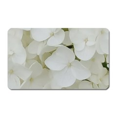 Hydrangea Flowers Blossom White Floral Photography Elegant Bridal Chic  Magnet (Rectangular)