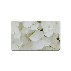 Hydrangea Flowers Blossom White Floral Photography Elegant Bridal Chic  Magnet (Name Card)
