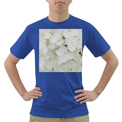Hydrangea Flowers Blossom White Floral Photography Elegant Bridal Chic  Dark T-Shirt