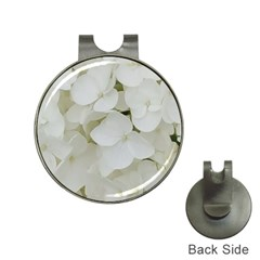 Hydrangea Flowers Blossom White Floral Photography Elegant Bridal Chic  Hat Clips with Golf Markers