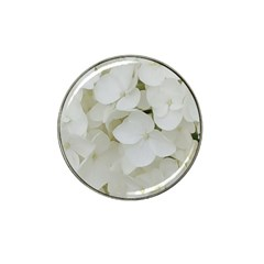 Hydrangea Flowers Blossom White Floral Photography Elegant Bridal Chic  Hat Clip Ball Marker (10 pack)