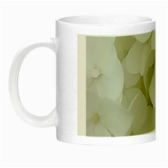 Hydrangea Flowers Blossom White Floral Photography Elegant Bridal Chic  Night Luminous Mugs