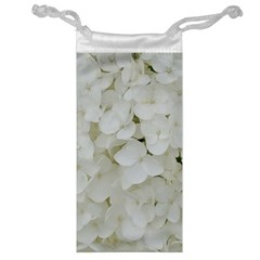 Hydrangea Flowers Blossom White Floral Photography Elegant Bridal Chic  Jewelry Bag