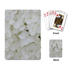 Hydrangea Flowers Blossom White Floral Photography Elegant Bridal Chic  Playing Card