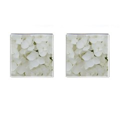 Hydrangea Flowers Blossom White Floral Photography Elegant Bridal Chic  Cufflinks (Square)