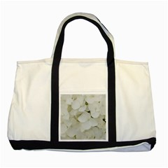 Hydrangea Flowers Blossom White Floral Photography Elegant Bridal Chic  Two Tone Tote Bag