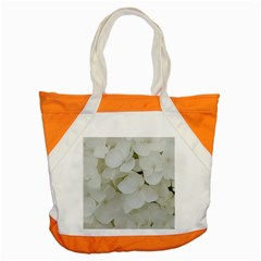 Hydrangea Flowers Blossom White Floral Photography Elegant Bridal Chic  Accent Tote Bag