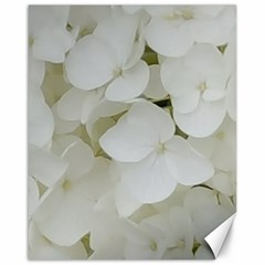 Hydrangea Flowers Blossom White Floral Photography Elegant Bridal Chic  Canvas 16  x 20