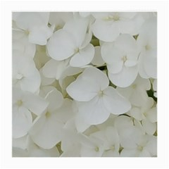 Hydrangea Flowers Blossom White Floral Photography Elegant Bridal Chic  Medium Glasses Cloth (2-Side)