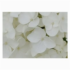 Hydrangea Flowers Blossom White Floral Photography Elegant Bridal Chic  Large Glasses Cloth (2-Side)