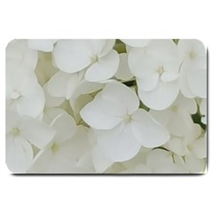Hydrangea Flowers Blossom White Floral Photography Elegant Bridal Chic  Large Doormat