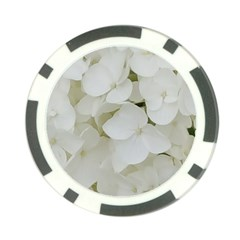 Hydrangea Flowers Blossom White Floral Photography Elegant Bridal Chic  Poker Chip Card Guard