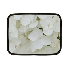 Hydrangea Flowers Blossom White Floral Photography Elegant Bridal Chic  Netbook Case (Small)
