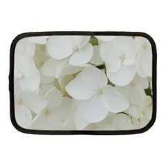 Hydrangea Flowers Blossom White Floral Photography Elegant Bridal Chic  Netbook Case (Medium)