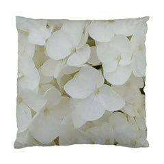 Hydrangea Flowers Blossom White Floral Photography Elegant Bridal Chic  Standard Cushion Case (Two Sides)