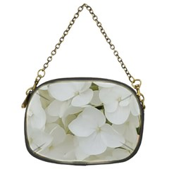 Hydrangea Flowers Blossom White Floral Photography Elegant Bridal Chic  Chain Purses (Two Sides)