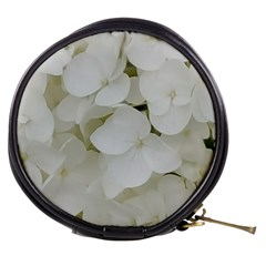 Hydrangea Flowers Blossom White Floral Photography Elegant Bridal Chic  Mini Makeup Bags