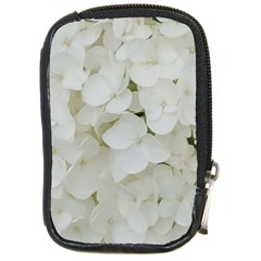 Hydrangea Flowers Blossom White Floral Photography Elegant Bridal Chic  Compact Camera Cases