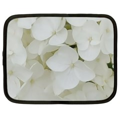 Hydrangea Flowers Blossom White Floral Photography Elegant Bridal Chic  Netbook Case (XL)
