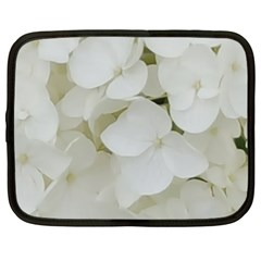 Hydrangea Flowers Blossom White Floral Photography Elegant Bridal Chic  Netbook Case (XXL)