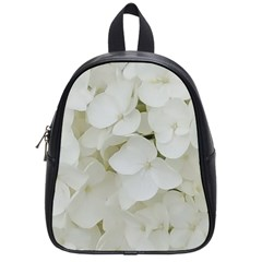 Hydrangea Flowers Blossom White Floral Photography Elegant Bridal Chic  School Bags (Small)