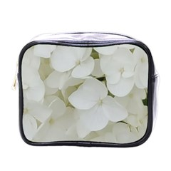 Hydrangea Flowers Blossom White Floral Photography Elegant Bridal Chic  Mini Toiletries Bags