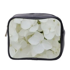 Hydrangea Flowers Blossom White Floral Photography Elegant Bridal Chic  Mini Toiletries Bag 2-Side