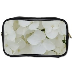 Hydrangea Flowers Blossom White Floral Photography Elegant Bridal Chic  Toiletries Bags 2-Side