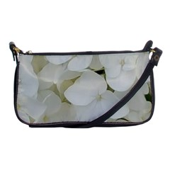 Hydrangea Flowers Blossom White Floral Photography Elegant Bridal Chic  Shoulder Clutch Bags