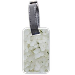 Hydrangea Flowers Blossom White Floral Photography Elegant Bridal Chic  Luggage Tags (Two Sides)