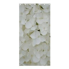 Hydrangea Flowers Blossom White Floral Photography Elegant Bridal Chic  Shower Curtain 36  x 72  (Stall)