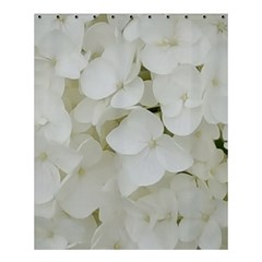 Hydrangea Flowers Blossom White Floral Photography Elegant Bridal Chic  Shower Curtain 60  x 72  (Medium)