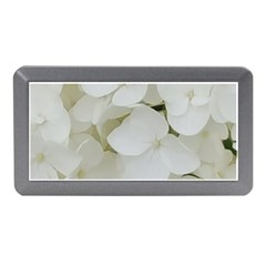 Hydrangea Flowers Blossom White Floral Photography Elegant Bridal Chic  Memory Card Reader (Mini)