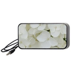 Hydrangea Flowers Blossom White Floral Photography Elegant Bridal Chic  Portable Speaker (Black)