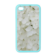 Hydrangea Flowers Blossom White Floral Photography Elegant Bridal Chic  Apple iPhone 4 Case (Color)