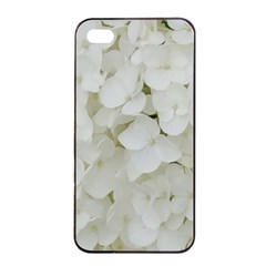 Hydrangea Flowers Blossom White Floral Photography Elegant Bridal Chic  Apple iPhone 4/4s Seamless Case (Black)