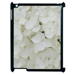 Hydrangea Flowers Blossom White Floral Photography Elegant Bridal Chic  Apple iPad 2 Case (Black)