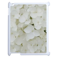 Hydrangea Flowers Blossom White Floral Photography Elegant Bridal Chic  Apple iPad 2 Case (White)