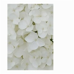 Hydrangea Flowers Blossom White Floral Photography Elegant Bridal Chic  Small Garden Flag (Two Sides)
