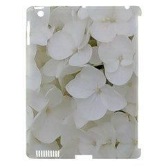 Hydrangea Flowers Blossom White Floral Photography Elegant Bridal Chic  Apple iPad 3/4 Hardshell Case (Compatible with Smart Cover)