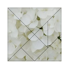 Hydrangea Flowers Blossom White Floral Photography Elegant Bridal Chic  Acrylic Tangram Puzzle (6  x 6 )
